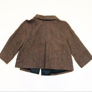 Kate Hill Jackets & Coats - Kate Hill Brown Wool Blend Tweed Capelet Blazer 4